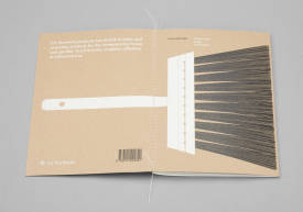 Brochure with screen printed cover