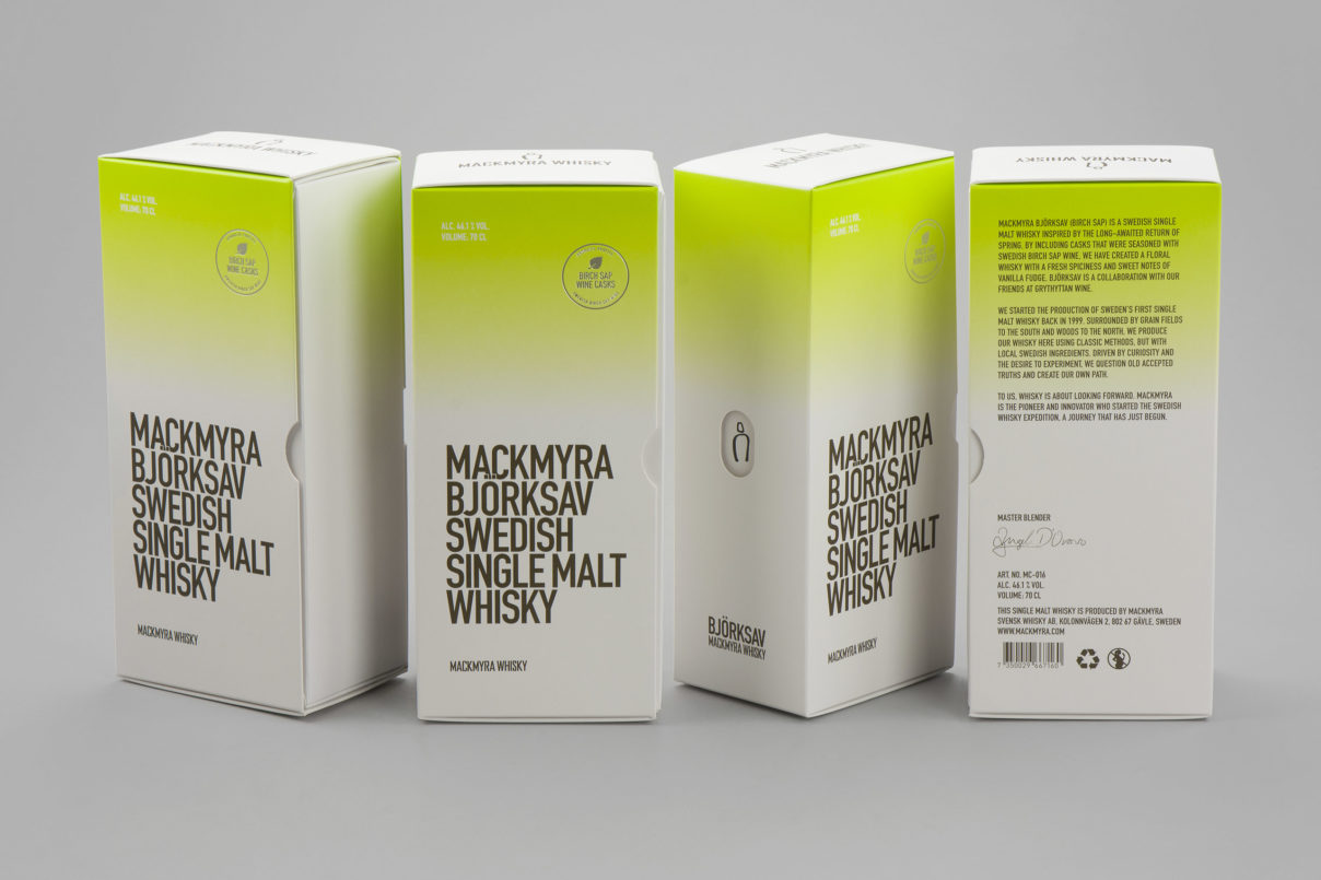 Whisky packaging – Mackmyra Björksav